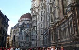 Santa Maria del Fiore. The dome in Florence a historical and religious building Royalty Free Stock Photos
