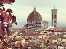Santa Maria del Fiore domkyrka, Florence Duomo arkivfoto