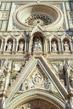 Santa Maria Del Fiore Duomo in Florence - detail front view Royalty Free Stock Images