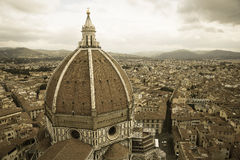 Santa Maria del Fiore in Firenze. The big and beautiful dome royalty free stock photography