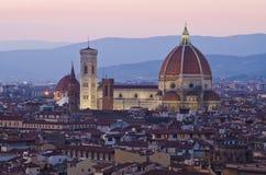 Santa Maria del Fiore a Firenze, Italia Fotografia Stock Libera da Diritti