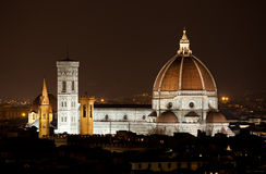 Santa Maria del Fiore, the Florence Duomo by night Stock Photo