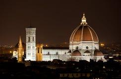Santa Maria del Fiore, the Florence Duomo by night Stock Photo