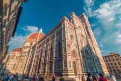 Santa Maria del Fiore kyrka i Florence Royaltyfri Bild