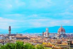 Santa Maria del Fiore and Palazzo Vecchio in Florence Royalty Free Stock Photo