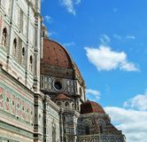 Santa Maria del Fiore. A perspektiv of the dom in Florence Royalty Free Stock Image