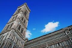 Santa Maria del Fiore steeple under a blue sky Stock Images