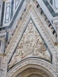 Europe`s fourth largest church,in Florence,Italy,Santa Maria del Fiore. Santa Maria del Fiore is a very large and magnificently decorated church., in Florence royalty free stock photo