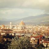 Santa Maria del Fiore vintage effect. Florence city view. Stock Photos