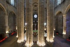Santa Maria Del Mącący, Barcelona Hiszpania - Zdjęcie Royalty Free