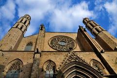 Santa Maria Del Mar, Barcellona Fotografia Stock