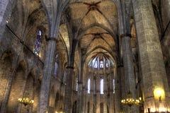 Santa Maria del Mar, Barcelona. Royalty Free Stock Image