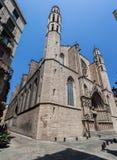 Santa Maria del Mar Barcelona Stock Photography