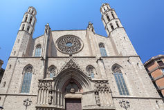 Santa Maria del Mar Barcelona Royalty Free Stock Images