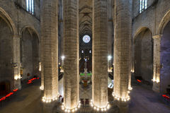Santa Maria del Mar - Barcelona Spain Royalty Free Stock Photo