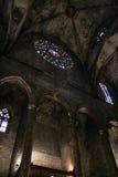 Santa Maria del Mar church interior, Barcelona, Spain Royalty Free Stock Image