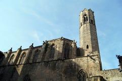 Santa Maria Del Mar em Barcelona Fotografia de Stock