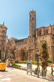 Santa Maria del Mar i Barcelona Spanien Arkivbild
