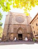 Santa Maria del Pi kyrka i Barcelona, Catalonia, Spanien Arkivfoton