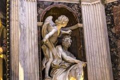 Базилика Santa Maria del Popolo, Рима, Италии Стоковое фото RF
