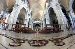 Santa Maria del popolo church interior, Rome Stock Images