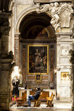 Santa Maria del Popolo Church. Right aisle. Rome. Italy Royalty Free Stock Photography