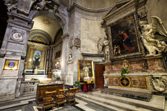 Santa Maria del Popolo Church. Right aisle. Rome. Italy Royalty Free Stock Photos