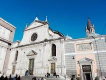 Santa Maria del Popolo a Roma Fotografie Stock