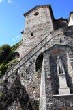 Santa Maria del Sasso en el lago Lugano Imagen de archivo