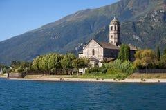 Santa Maria del Tiglio in Gravedona, Lake Como Royalty Free Stock Photo