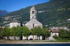 Santa Maria del Tiglio in Gravedona, Lake Como Stock Image