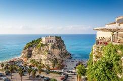 Santa Maria dell`Isola, Tropea, Calabria, Italy Royalty Free Stock Photography