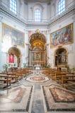Santa Maria della Pace kyrklig near piazza Navona, Rome för barock arkivbilder