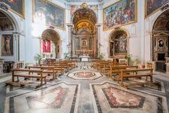 Santa Maria della Pace kyrklig near piazza Navona, Rome för barock arkivbild