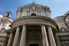 Santa Maria della Pace yttersida i Rome royaltyfri fotografi