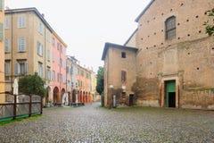 Santa Maria della Pomposa kyrka, Modena Fotografering för Bildbyråer