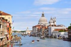 Santa Maria della salut i kanał grande, Wenecja, Włochy Zdjęcie Stock