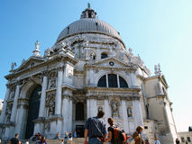 Santa Maria Della Salute. Church on March 04, 2013 in Venice. Church was building in honour of escape from plague in 1630-1631 stock images