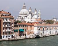Santa Maria della Salute basilica and city skyline in summer Ven Stock Photography