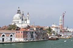 Santa Maria della Salute basilica and city skyline in summer Ven Stock Photos