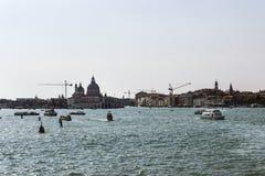 Santa Maria della Salute basilica and city skyline in summer Ven Royalty Free Stock Image