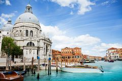 Santa Maria della Salute Basilica in Venetië royalty-vrije stock foto's