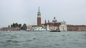 Santa Maria della Salute basilica and water traffic in summer Ve Royalty Free Stock Image