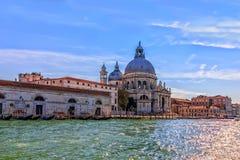 Santa Maria Della Salute Church in Dorsoduro area in Venice. Italy royalty free stock images