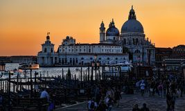 Santa Maria della Salute church in Venice, Italy royalty free stock photography