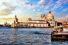 Santa Maria della Salute Church of Venice before the thundersto. Rm stock image
