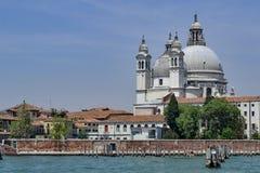 Santa Maria della Salute från den Giudecca kanalen arkivbild