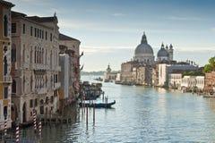 Santa Maria Della Salute Grand Canal, Venedig Fotografering för Bildbyråer