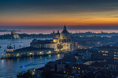 Santa Maria della Salute at Sunset Stock Images