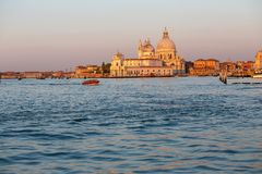 Santa Maria della Salute in Venice, Italy at sunrise Stock Photo